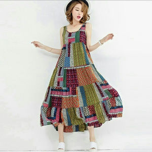 ZANZEA COLLECTION || Colorful Boho Patchwork Dress